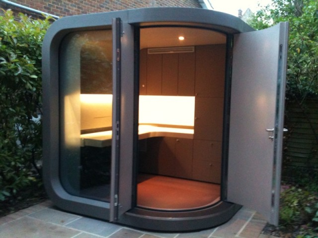 Small garden office solution by officepod the garden room guide - Small space garden design property ...