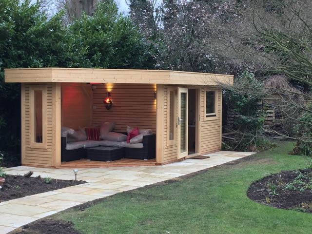 Garden room with covered seating area by Garden Affairs-1