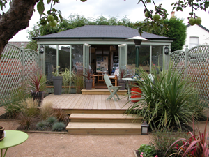 Exterior of a Homelodge garden room
