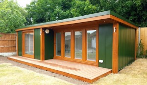 L-shaped garden room