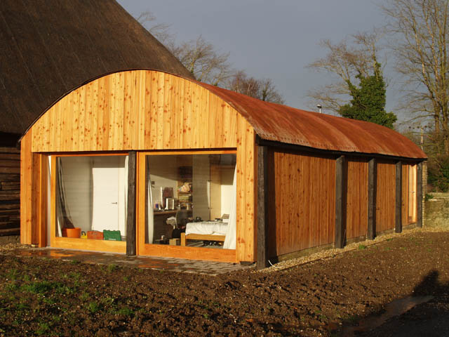 Millworks cladding used on a garden room