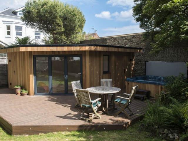 Garden Room Designed Around A Hot Tub By Harrison James 1