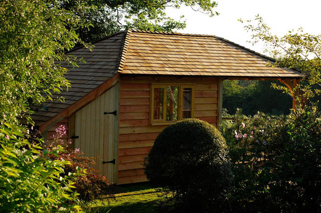 Pitched roof garden room by Miniature Manors-7