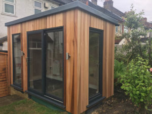Narrow garden room