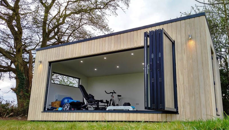 The bi-fold doors create a great connection with the garden