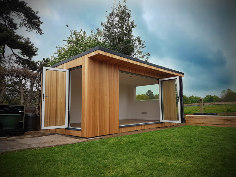 Open up your garden room with more than one set of doors