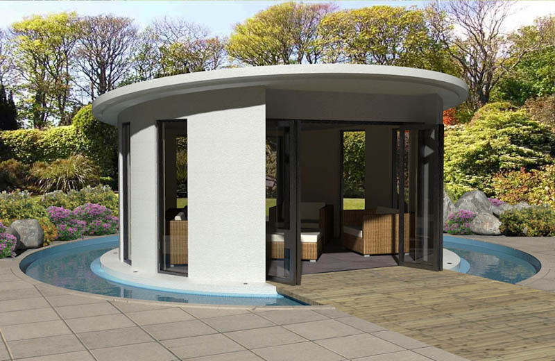 Round garden rooms by Linc