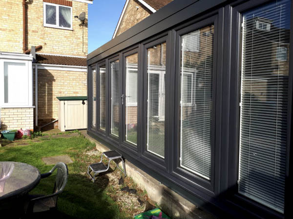 Long narrow garden room