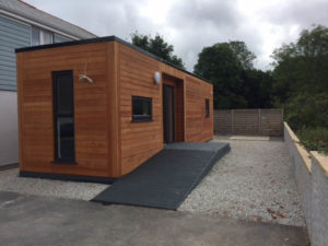A self-contained annexe with kitchen and shower room frees up space in the residential home.