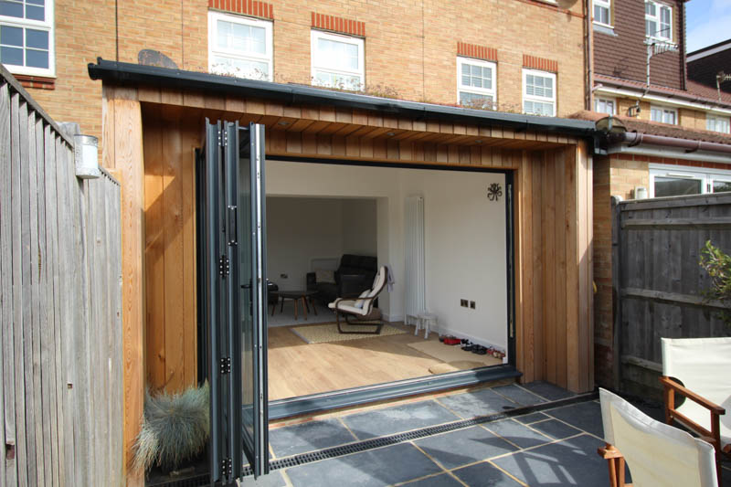 Bi-fold doors create a great connection between inside and outside spaces
