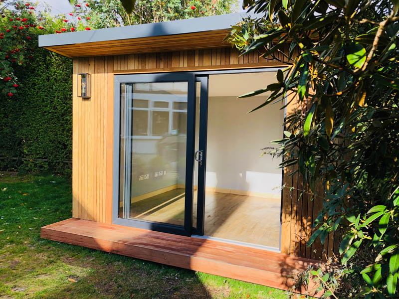 3m x 3.6m contemporary style garden office