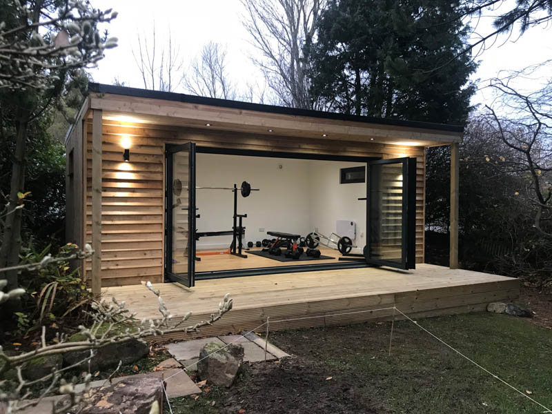 Bespoke garden gym in Ayr, Scotland