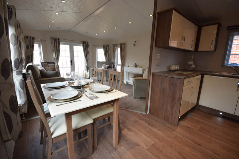 Sunrise Lodges offer modern open plan living
