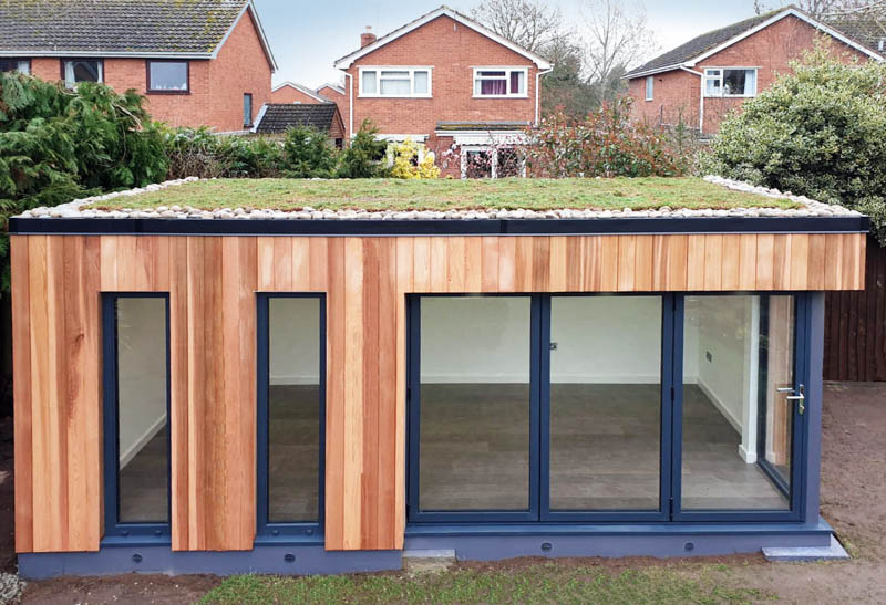 The sedum roof improves the neighbours view