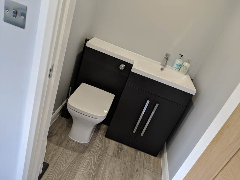 Compact WC in the garden room
