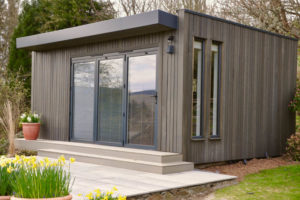 Garden room with Grey Larch cladding