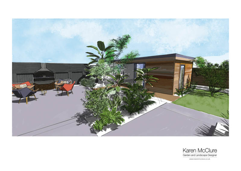 Karen McClure visulaisation of her garden room