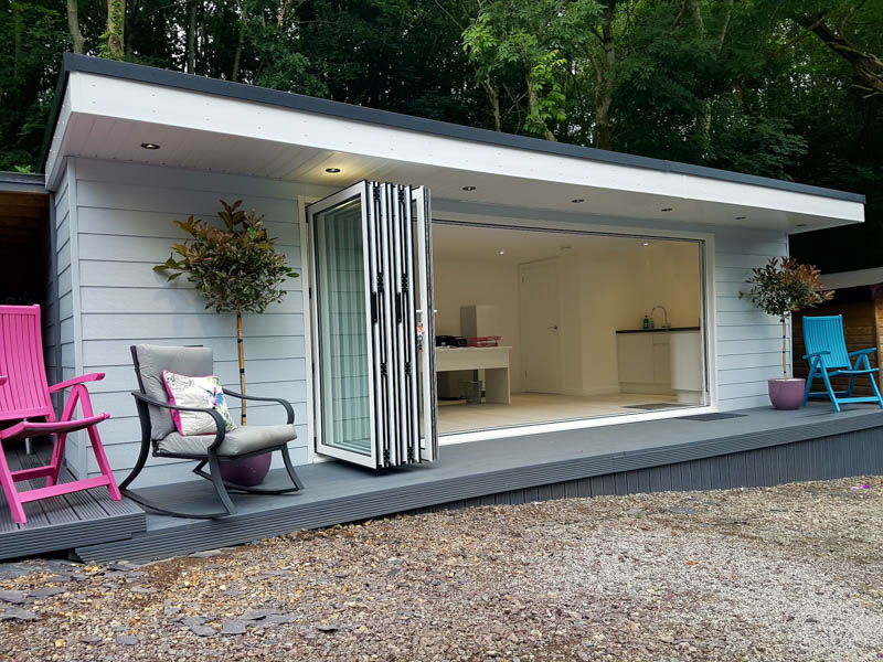 Garden office with low maintenance Cedral cladding