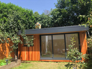 eDEN Garden Room with wildflower roof covering
