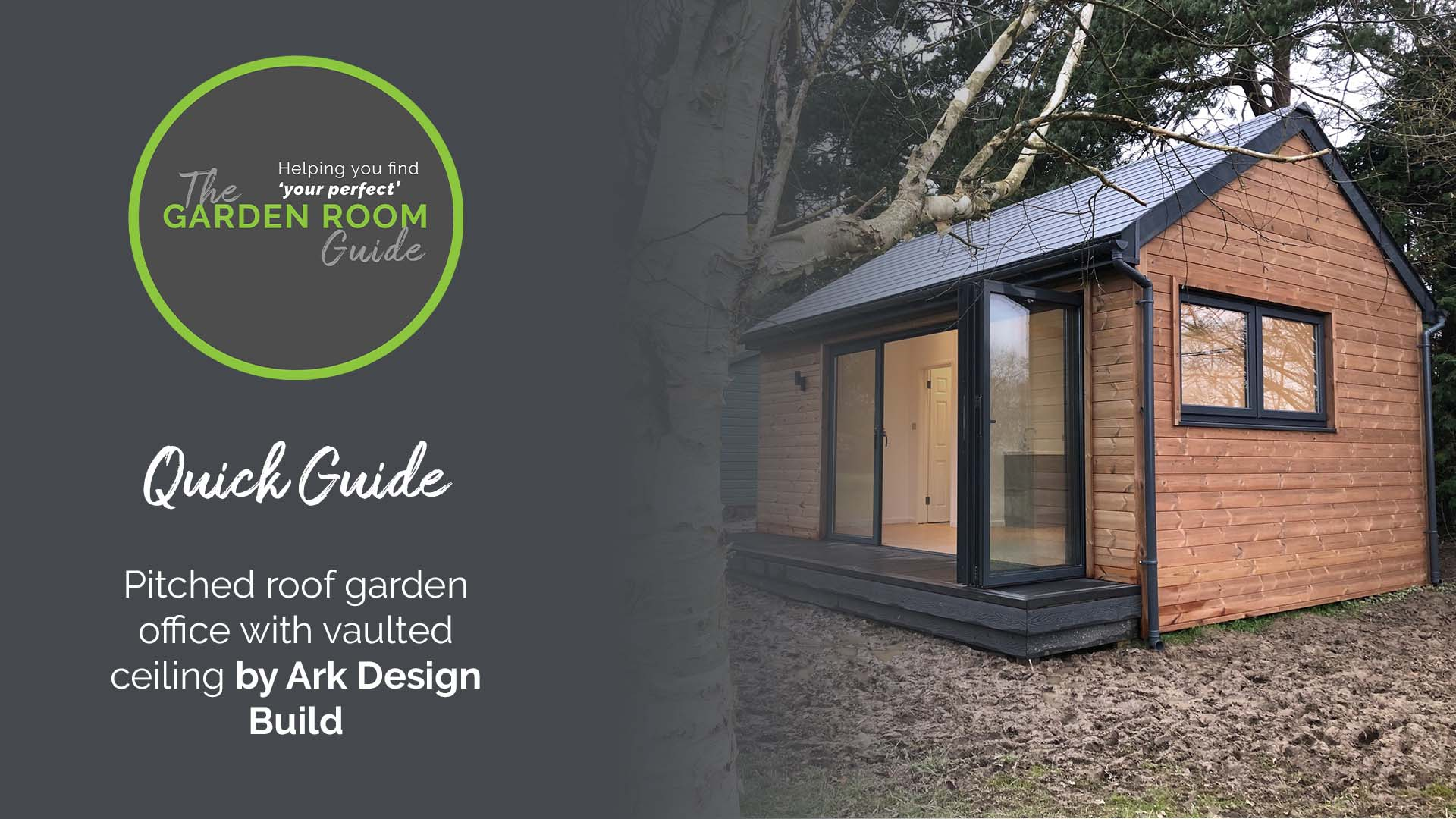 A quick look at a 6m x 4m garden office with apex roof