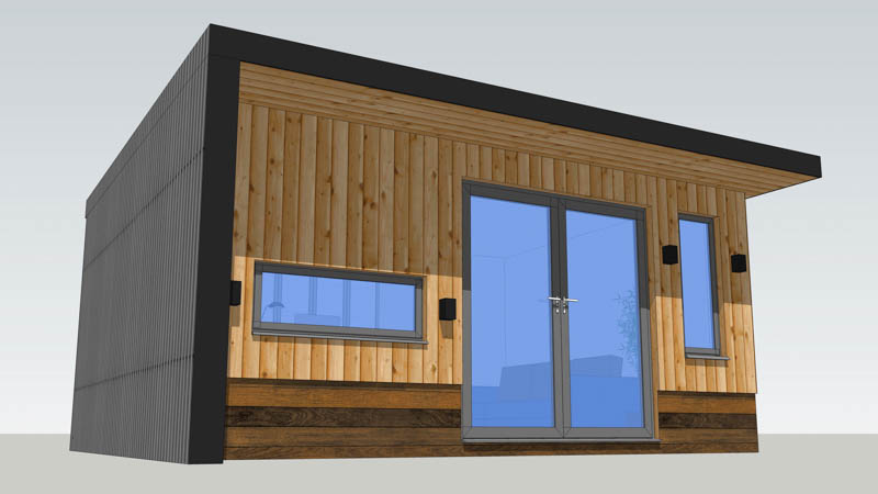 Garden room designed on a fixed budget by A Room in the Garden