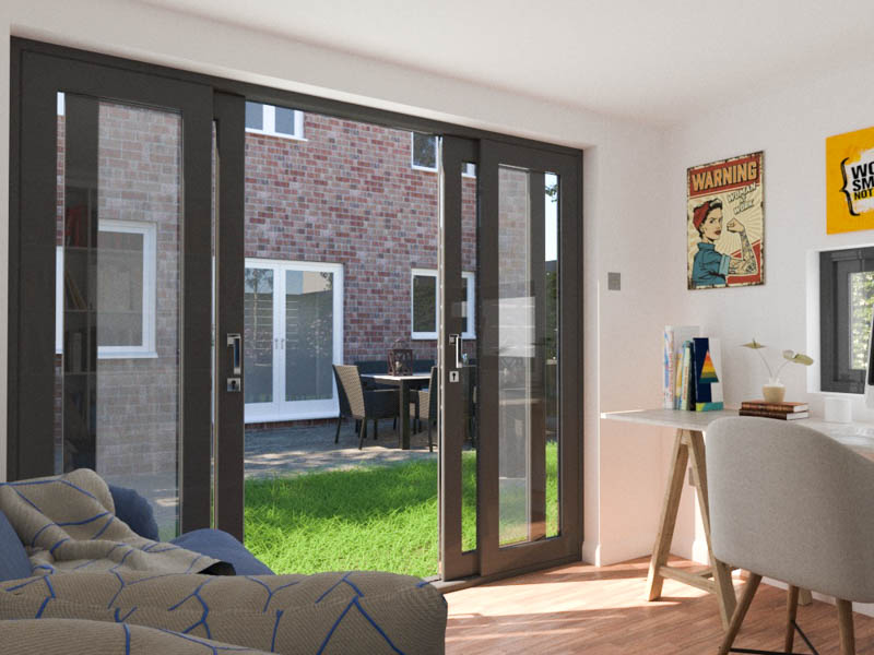 Garden room with french sliding doors