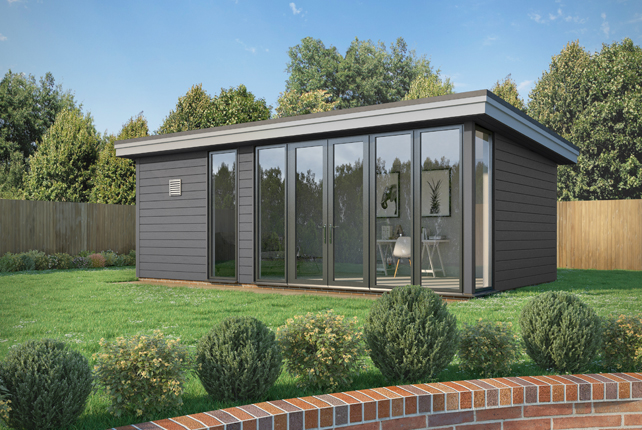 Quality composite wood cladding for garden rooms