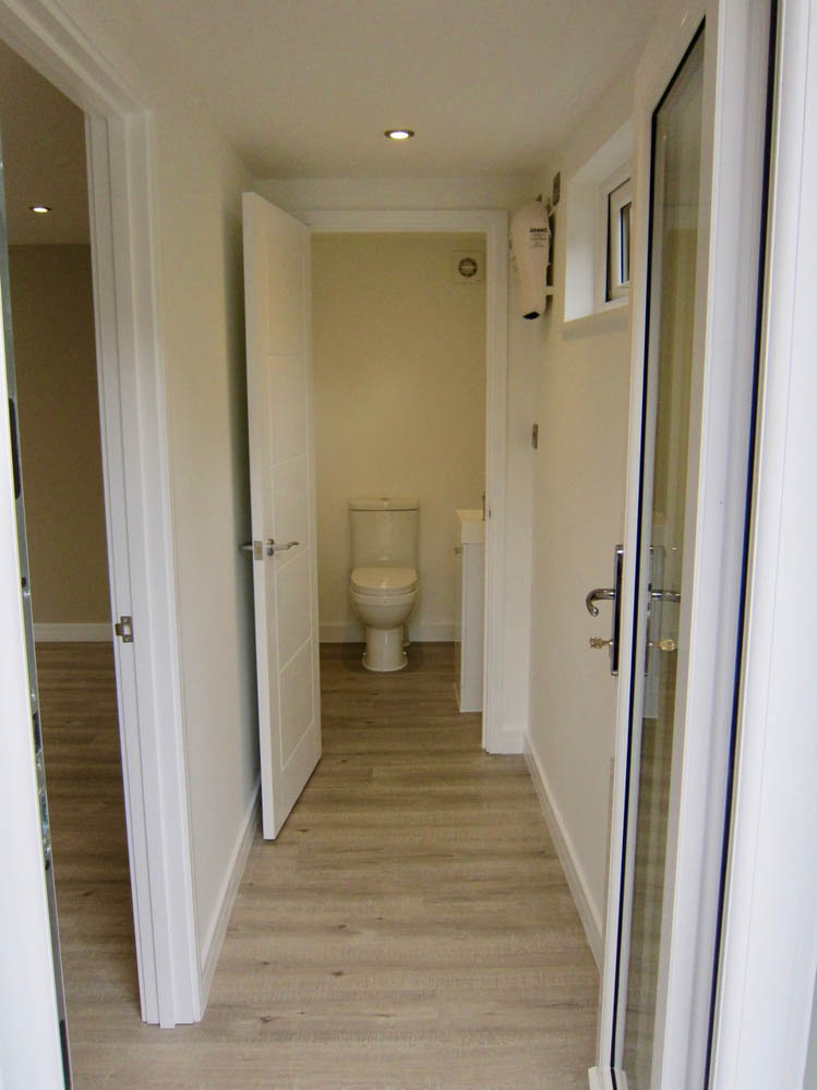 View down the hall to the cloakroom