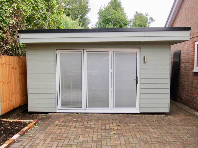 Magnetic blinds have been fitted in the bi-fold doors