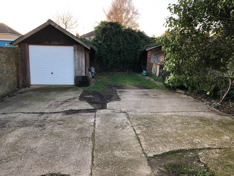 The garage that was replaced by an Executive Garden Room