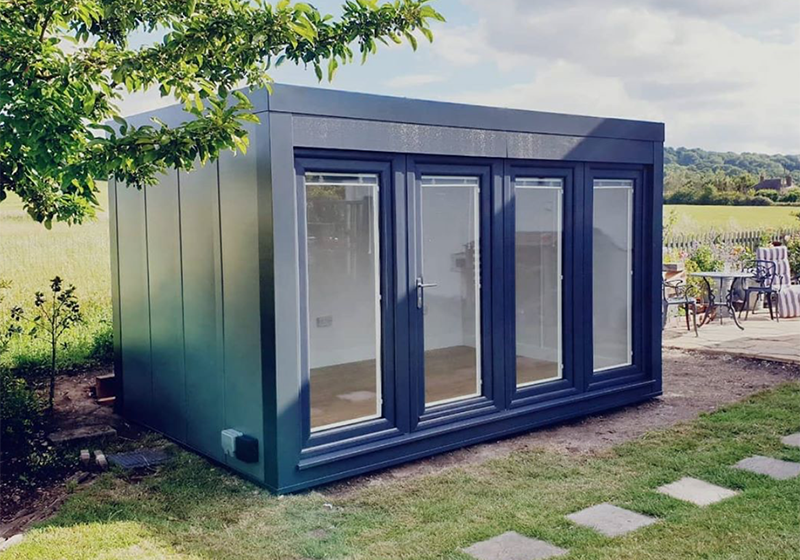 12x8 garden office by Booths Garden Studios