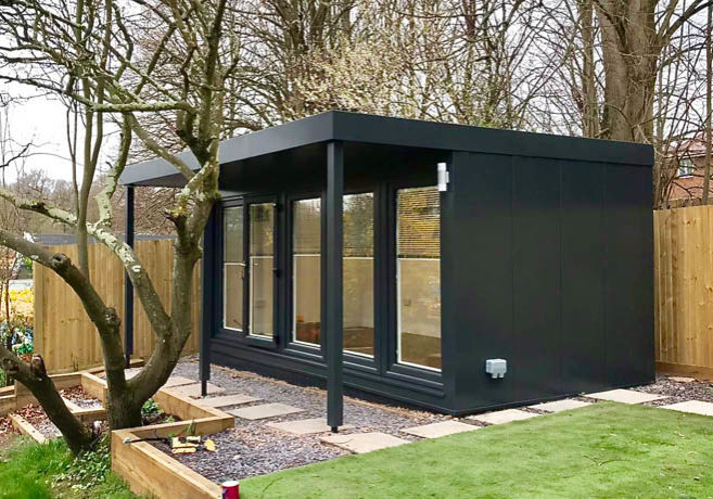 Garden room with steel cladding by Booths Garden Studios