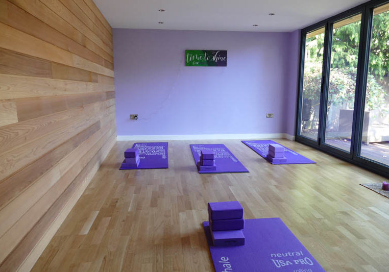 Bespoke yoga studio in the garden