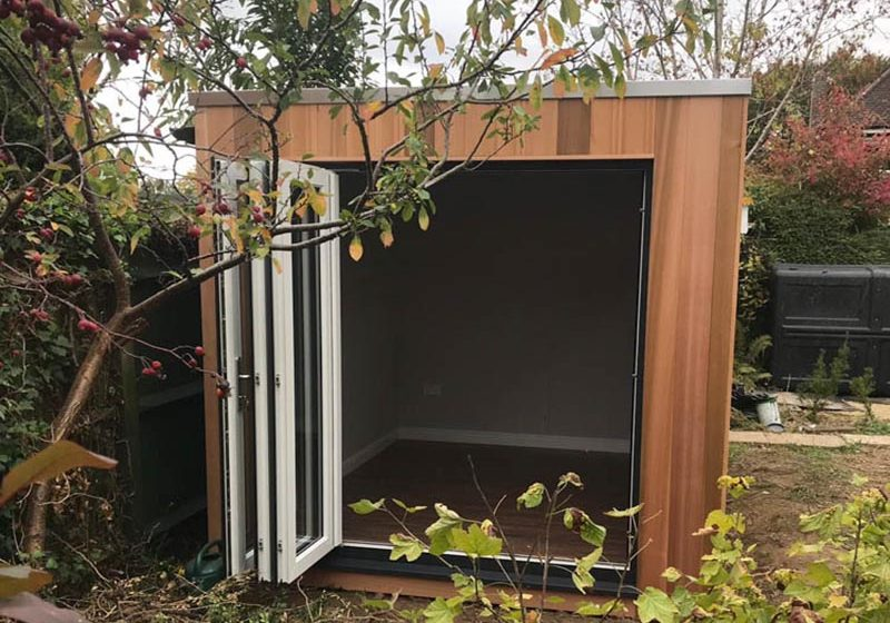 Garden studio with swing & slide doors-FI