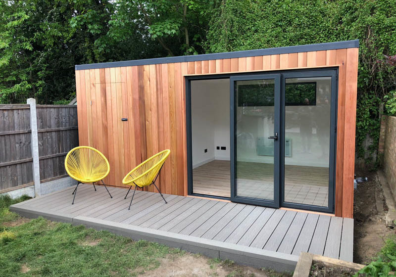 Garden office with secret shed