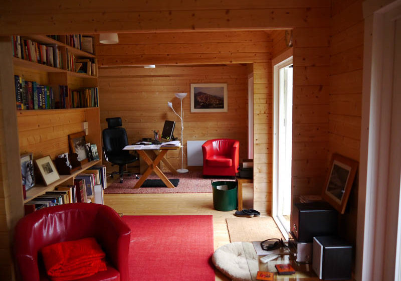 Log cabin living annexe interior